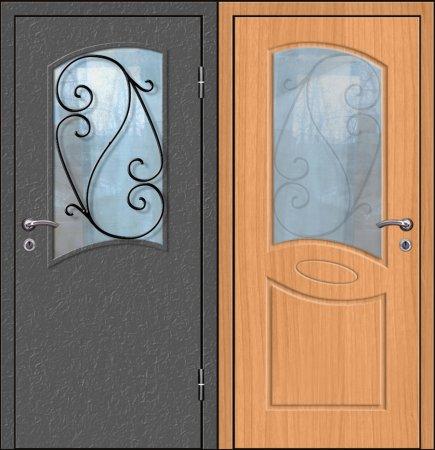 Премиальная металлическая дверь - 12-91