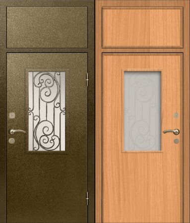 Металлическая дверь для парадной - 14-93