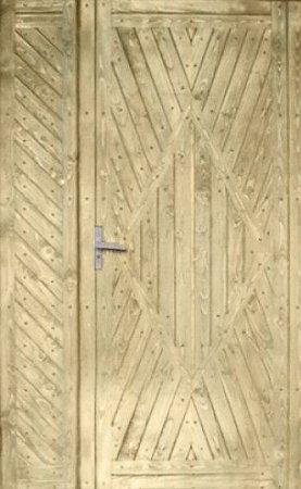 Полуторная металлическая дверь - 15-96