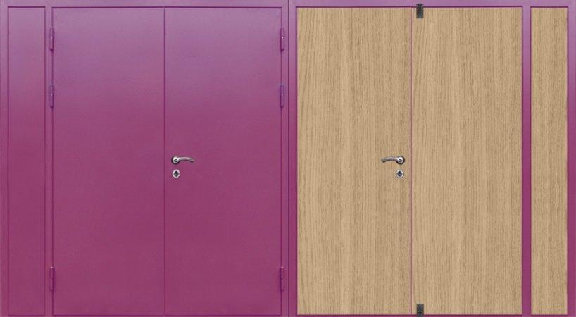 Полуторная металлическая дверь - 16-11