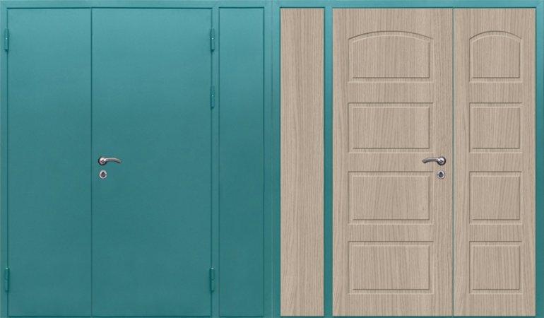 Полуторная металлическая дверь - 16-13