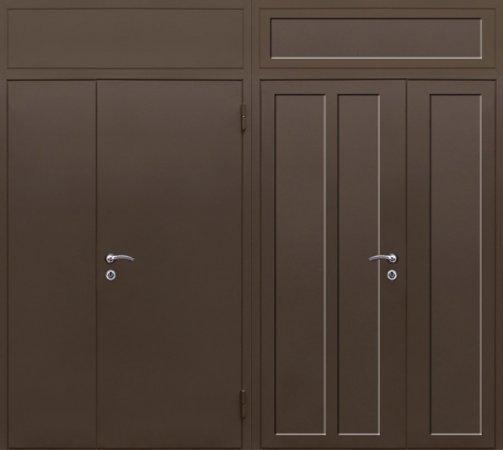 Полуторная металлическая дверь - 16-14
