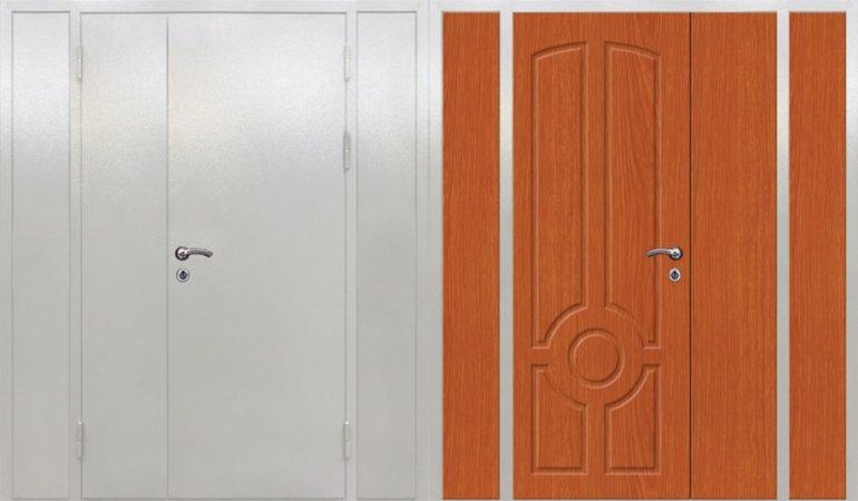 Полуторная металлическая дверь - 16-15