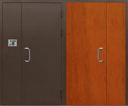 Полуторная металлическая дверь - 16-19
