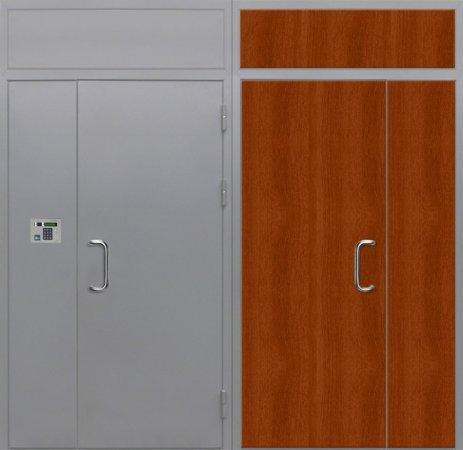 Полуторная металлическая дверь - 16-20