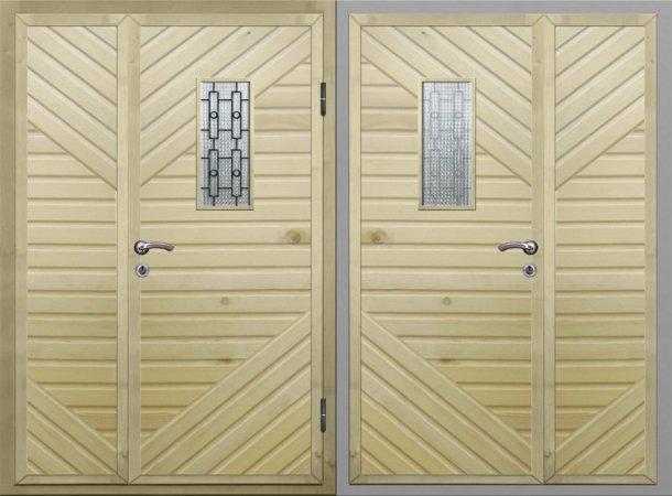 Полуторная металлическая дверь - 16-21