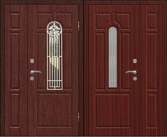 Полуторная металлическая дверь - 16-33