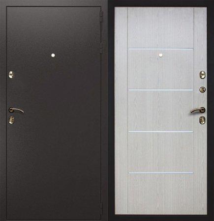 Двухлистовая металлическая дверь - 16-35