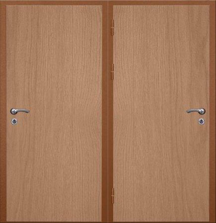 Двухлистовая металлическая дверь - 16-40