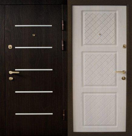 Двухлистовая металлическая дверь - 16-42