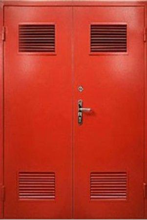 Двухлистовая металлическая дверь - 16-43
