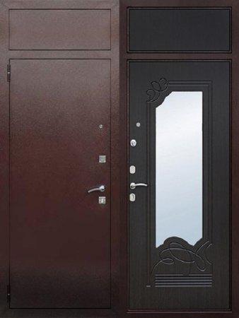 Двухлистовая металлическая дверь - 16-47