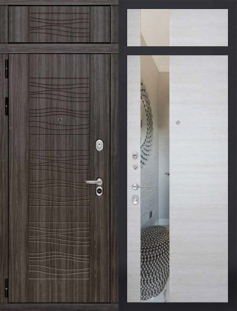 Двухлистовая металлическая дверь - 16-49