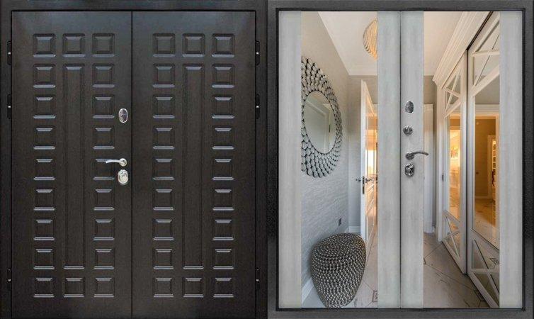 Двухлистовая металлическая дверь - 16-50