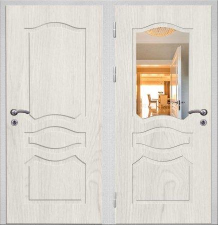 Двухлистовая металлическая дверь - 16-52