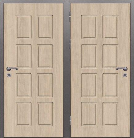 Двухлистовая металлическая дверь - 16-54