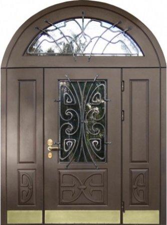 Двухлистовая металлическая дверь - 16-55