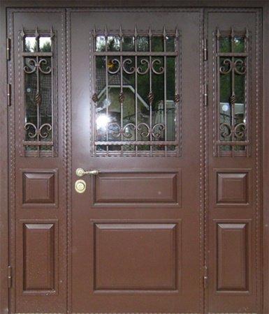Двухлистовая металлическая дверь - 16-56
