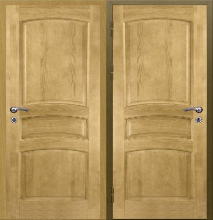 Двухлистовая металлическая дверь - 16-57