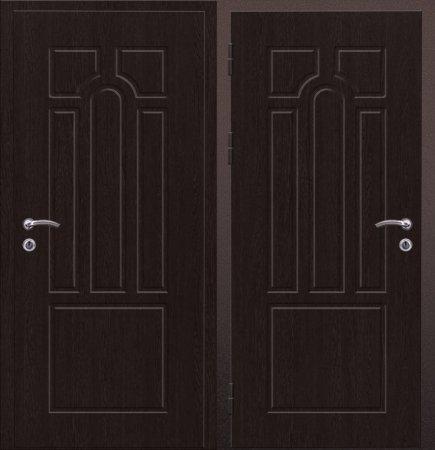 Двухлистовая металлическая дверь - 16-58