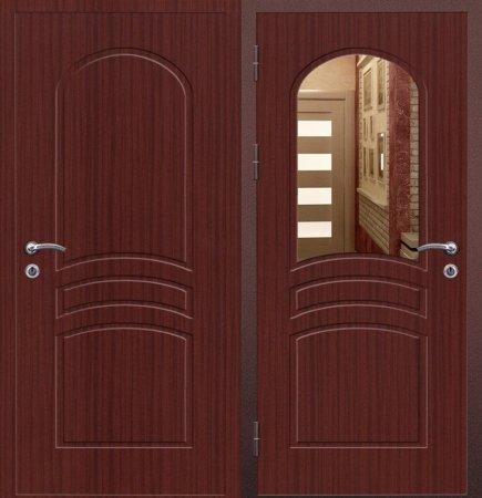 Двухлистовая металлическая дверь - 16-60