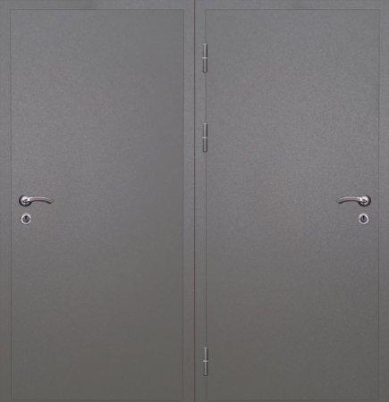 Двухлистовая металлическая дверь - 16-62