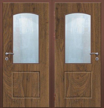 Двухлистовая металлическая дверь - 16-63