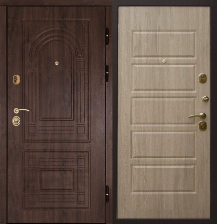 Двухлистовая металлическая дверь - 16-64