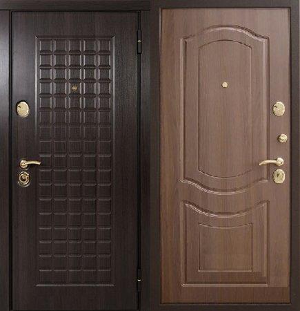 Двухлистовая металлическая дверь - 16-65