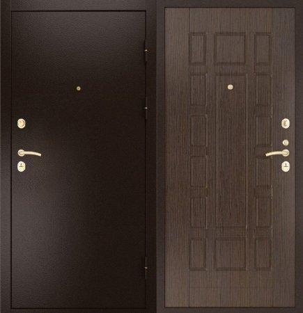Двухлистовая металлическая дверь - 16-66
