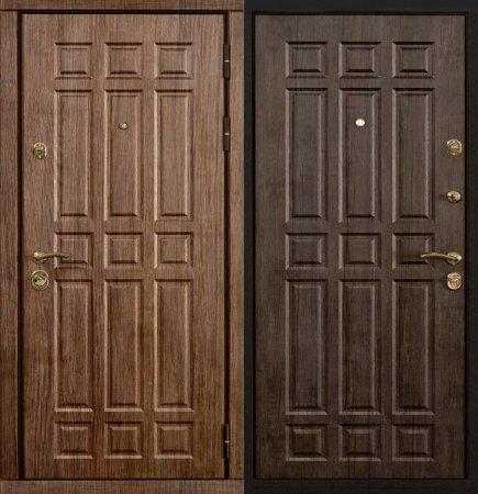 Двухлистовая металлическая дверь - 16-68