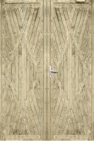 Двухлистовая металлическая дверь - 16-70