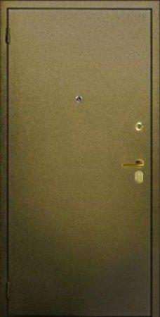 Двухлистовая металлическая дверь - 16-78