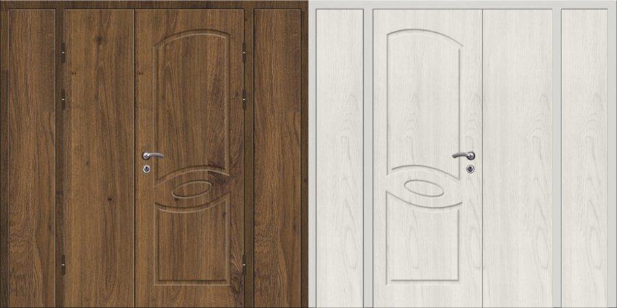 Двухлистовая металлическая дверь - 16-80