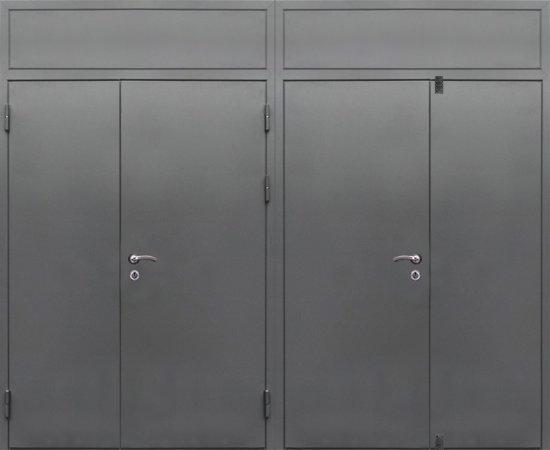Двухлистовая металлическая дверь - 16-81