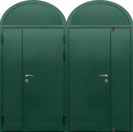 Двухлистовая металлическая дверь - 16-82