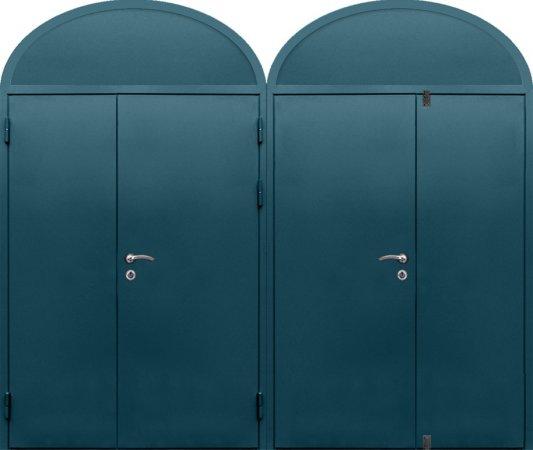 Двухлистовая металлическая дверь - 16-83