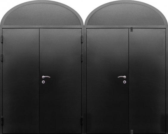 Двухлистовая металлическая дверь - 16-84