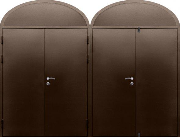 Двухлистовая металлическая дверь - 16-85