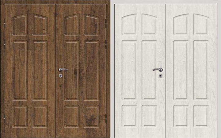 Двухлистовая металлическая дверь - 16-86