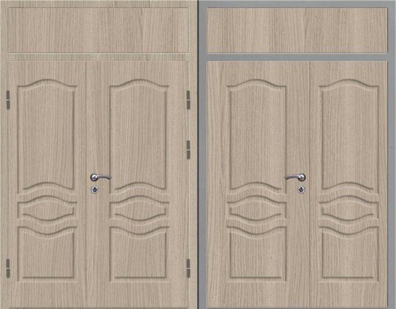 Двухлистовая металлическая дверь - 16-87