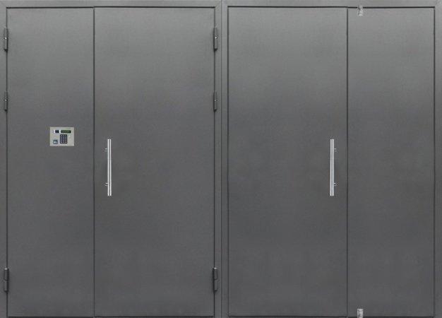Двухлистовая металлическая дверь - 16-88
