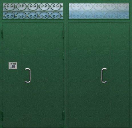 Двухлистовая металлическая дверь - 16-90