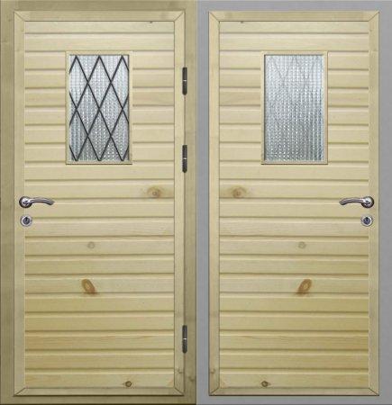 Двухлистовая металлическая дверь - 16-92