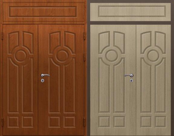 Двухлистовая металлическая дверь - 16-96