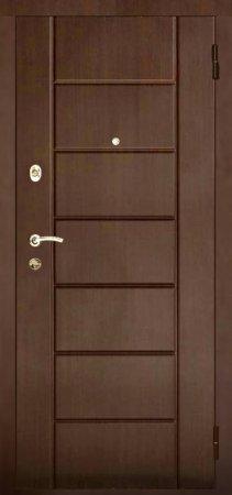 Двухлистовая металлическая дверь - 17-16