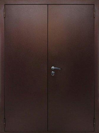 Двухлистовая металлическая дверь - 17-23