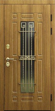 Двухлистовая металлическая дверь - 17-28