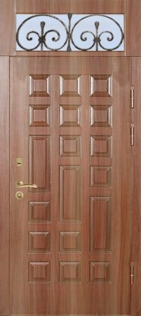 Двухлистовая металлическая дверь - 17-31