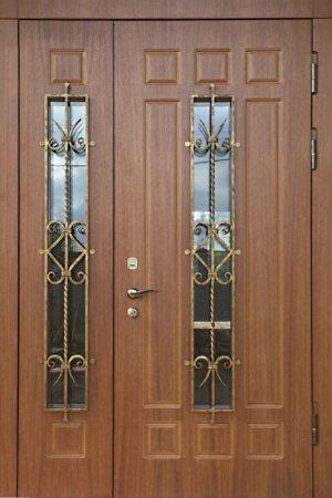 Двухлистовая металлическая дверь - 17-32